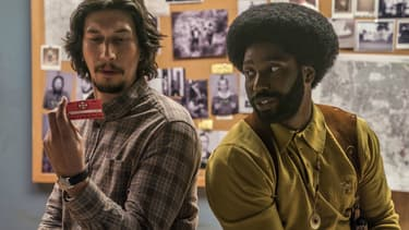 Adam Driver et John David Washington dans BlacKkKlansman