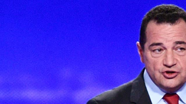 Jean-Frédéric Poisson lors du débat avec les autres candidats à la primaire de la droite, le 13 octobre 2016.