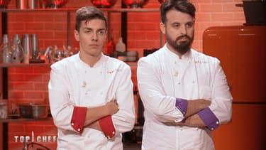 "Adrien Cachot et Mallory Gabsi dans ""Top Chef""."