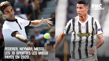 Federer, Neymar, Messi... Les 10 sportifs les mieux payés en 2020