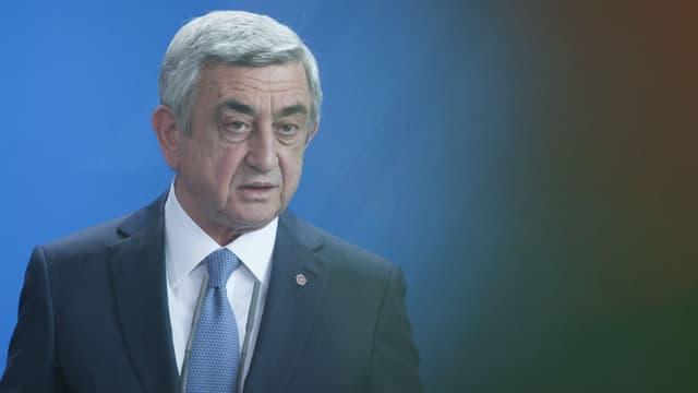Le président de l'Arménie, Serge Sarkissian, le 6 avril 2016.