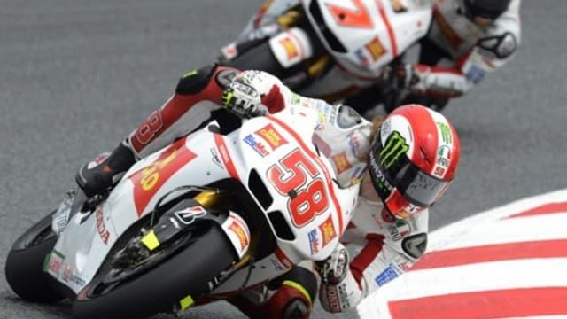 Marco Simoncelli a signé la première pole de sa carrière en Moto GP hier.