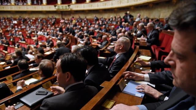 Les membres de l'Assemblée Nationale, le 14 avril 2015