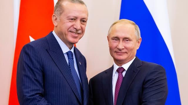 Recep Tayyip Erdogan et Vladimir Poutine, le 17 septembre 2018.