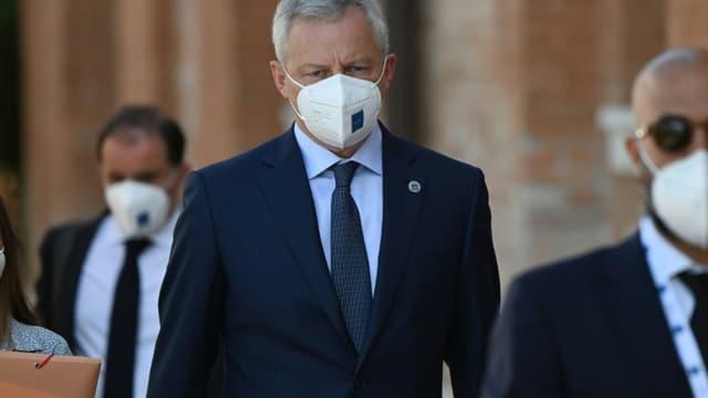 Le ministre français de l'Economie et des Finances Bruno Le Maire arrive à Venise pour participer au G20 Finances, le 9 juillet 2021