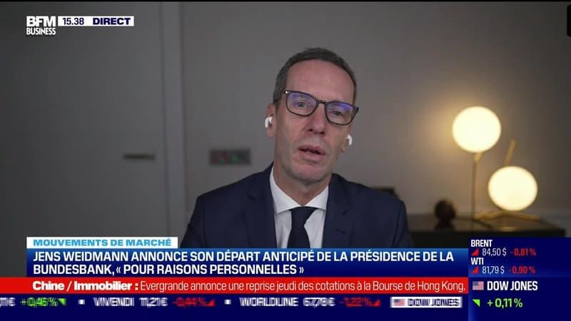 Regarder la vidéo John Plassard (Mirabaud & Cie : Jens Weidmann annonce son départ anticipé de la présidence de la Bundesbank - 20/10