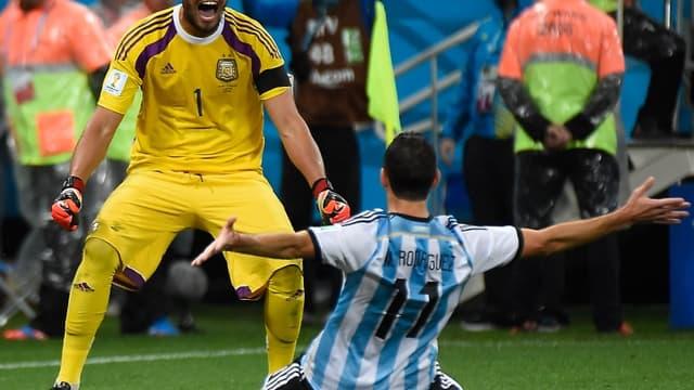 Romero et Maxi Rodriguez