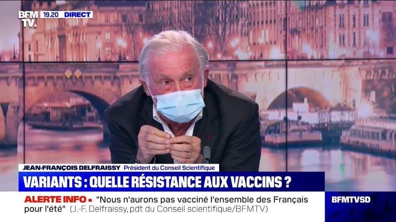 """Jean-François Delfraissy: """"Le variant sud-africain semble provoquer une diminution de l'efficacité du vaccin d'environ 40%"""""""