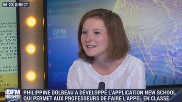 Philippine Dolbeau a créé New School il y a deux ans, alors qu'elle était encore lycéenne.