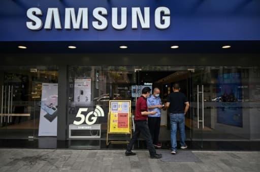 Une boutique Samsung, le 26 mai 2020 à Wuhan, en Chine