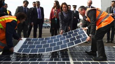 Ségolène Royal était venue tester cette technologie ce 21 mars sur un chantier de rocade à Marseille.