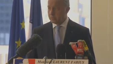 Laurent Fabius a confirmé l'authentification de la vidéo de l'otage français par les services du ministère des Affaires étrangères.