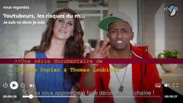 """Le web documentaire """"Youtubeurs, les risques du métier""""."""