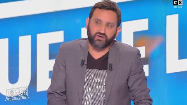 """Cyril Hanouna dans son émission """"Touche pas à mon poste!"""", le 12 juin 2017."""