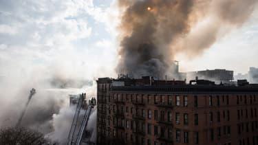 Un incendie a fait plusieurs blessés à New York le 26 mars 2015