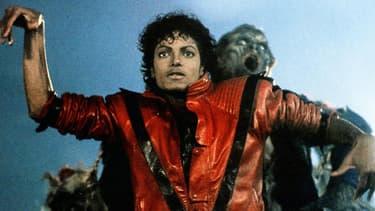 """Michael Jackson dans le clip de """"Thriller"""", en 1982."""