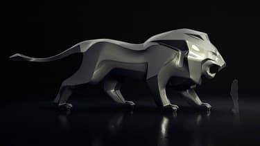 Au salon automobile de Genève (Suisse), à partir du 6 mars, Peugeot exposera une statue géante du lion, son emblème depuis 160 ans.