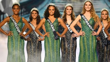 Des candidates au concours Miss France en décembre 2016