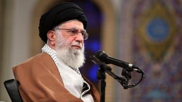 Le guide suprême iranien Ali Khamenei prononce un discours pour le 40e anniversaire de la prise d'otages à l'ambassade des Etats-Unis à Téhéran, le 3 novembre 2019