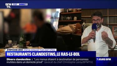 """""""Ces gens-là ne sont pas de la profession, c'est juste des clowns"""": le coup de gueule du chef de cuisine Stéphane Jego contre les restaurants clandestins"""