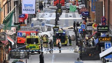 L'attaque s'est déroulée dans un quartier commerçant très fréquenté de Stockholm.