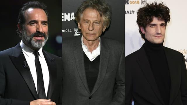 Jean Dujardin, Roman Polanski et Louis Garrel