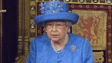 La reine Elizabeth  II au parlement à Londres, le 21 juin 2017