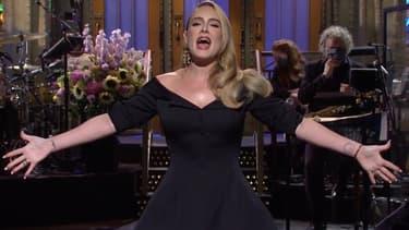 Adèle sur le plateau du SNL