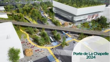Le futur quartier de la Chapelle -projection.