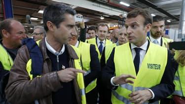 François Ruffin et Emmanuel Macron à Amiens en 2017.