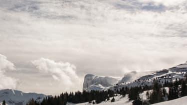 Illustration - Un domaine skiable dans les Alpes