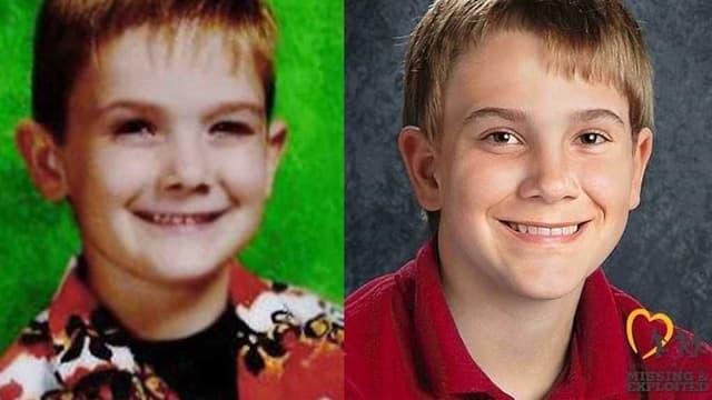 À gauche, Timmothy Pitzen enfant. À droite, une photo de ce à quoi ressemblerait aujourd'hui l'adolescent.