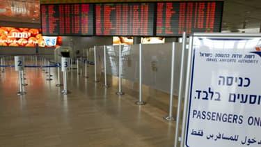 L'aéroport de Ben Gourion, à Tel Aviv, où la jeune Française a été refusée lundi.