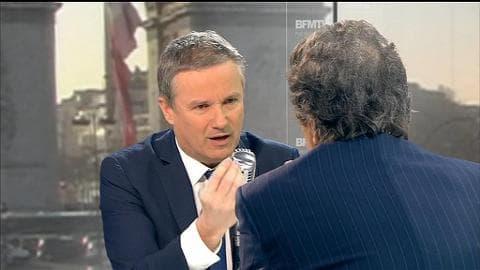 """Essonne: """"unis pour nettoyer la vie politique"""" estime Nicolas Dupont-Aignan"""