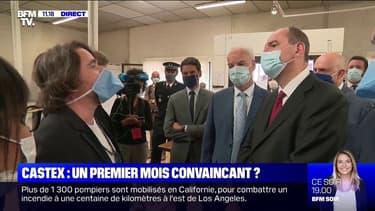 Jean Castex visite une usine de masques à Roubaix, pour promouvoir la production française
