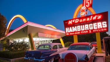 La réplique du premier restaurant MacDonald's dans l'Illinois.
