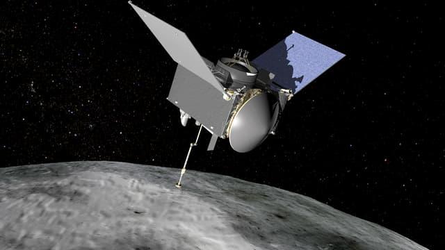 Vue d'artiste de la mission OSIRIS-REx.