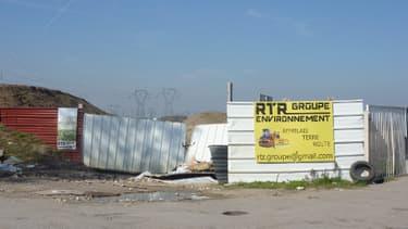 Villeparisis, à 20 km au nord-est de Paris: l'un des sites où des déchets étaient illégalement enterrés par la société RTR Environnement.