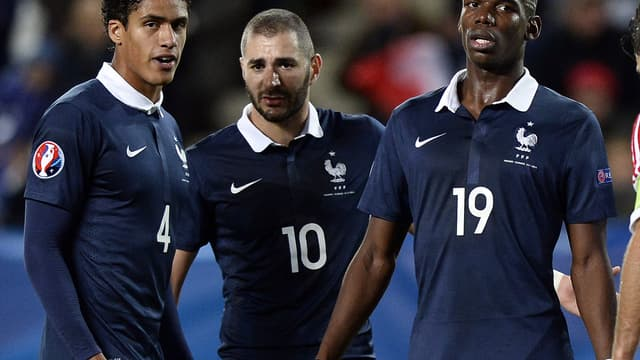 Raphaël Varane, Karim Benzema, Paul Pogba