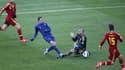 Franck Ribéry lors de son face à face manqué devant Valdes