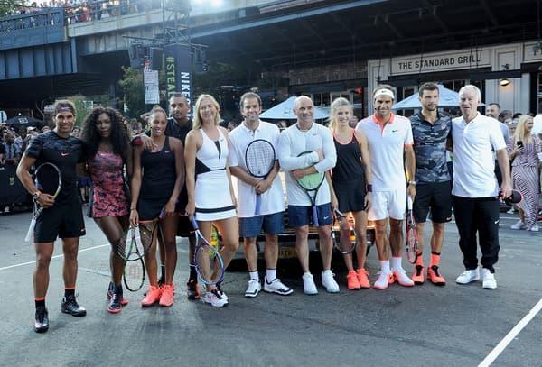 Les stars du tennis en contrat chez Nike réunies à New York