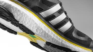 Sur les runnings équipées de Boost, la mousse est remplacée par des milliers de petites billes