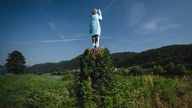 La statue de Melania Trump à Sevnica où elle a passé son enfance, dans une ville de l'est de la Slovénie.