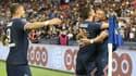 Kylian Mbappé heureux lors de PSG-Strasbourg