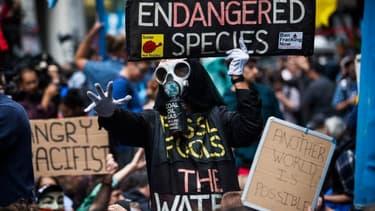 Une marche pour le climat à New York, en 2014
