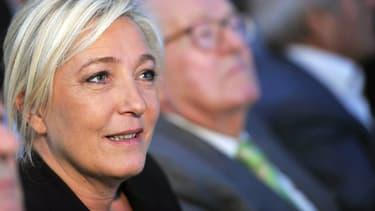 Marine et Jean-Marie Le Pen, le 22 septembre 2012.