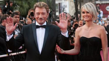 Johnny et Laeticia Hallyday à Cannes le 17 mai 2009.