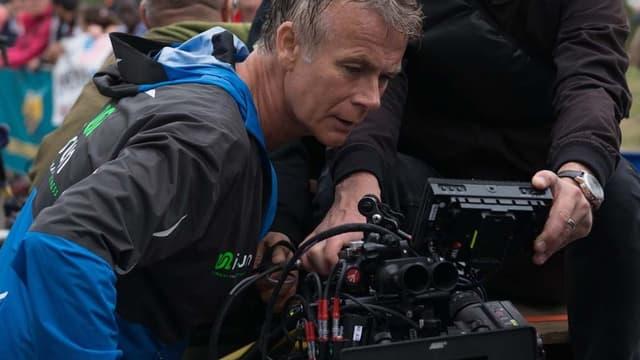 Franck Dubosc sur le tournage de Tout le monde debout.