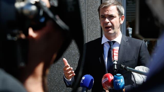 Olivier Véran, le 29 juillet 2020 à Montigny-le-Bretonneux.