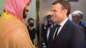 Mohamed Ben Salmane et Emmanuel Macron